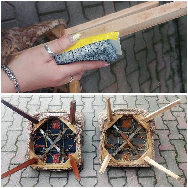 krzeslo tapicerowane muszelka 10 - KRZESŁO PRL - EFEKTOWNA METAMORFOZA MUSZELKI