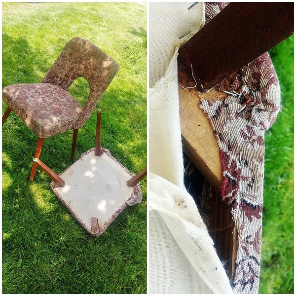 krzeslo tapicerowane muszelka 9 - KRZESŁO PRL - EFEKTOWNA METAMORFOZA MUSZELKI