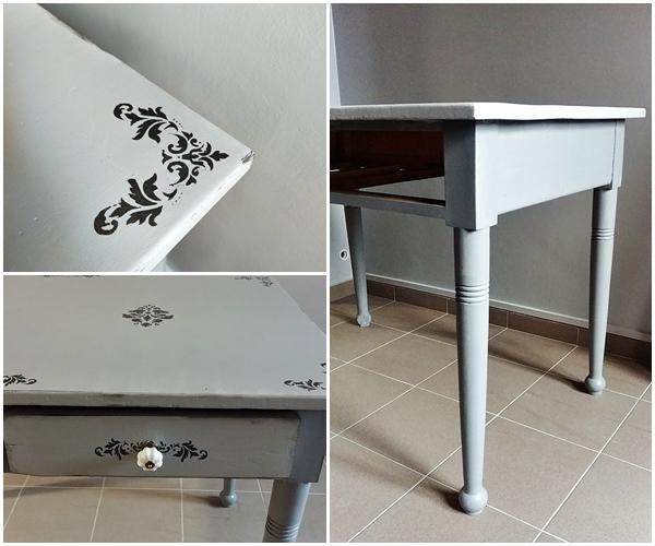 malowanie stolu drewnianego - STARY STÓŁ DREWNIANY - RATUJEMY MEBEL