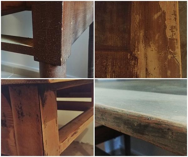 metamorfoza stolu drewnianego - STARY STÓŁ DREWNIANY - RATUJEMY MEBEL