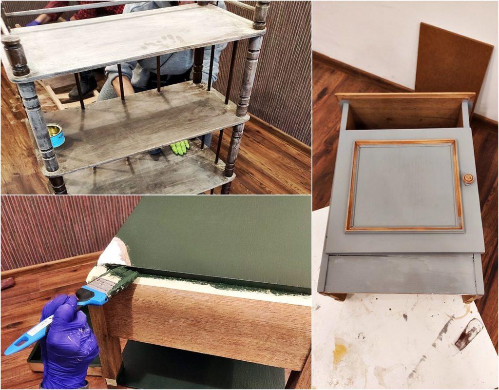 malowanie mebli 1024x800 - ODNAWIANIE MEBLI - RELACJA Z WARSZTATÓW
