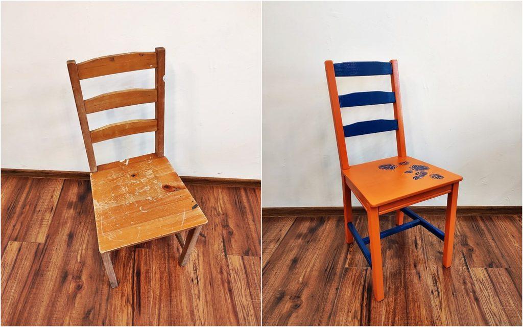 metamorfoza krzesla ikea 1024x640 - ODNAWIANIE MEBLI - RELACJA Z WARSZTATÓW