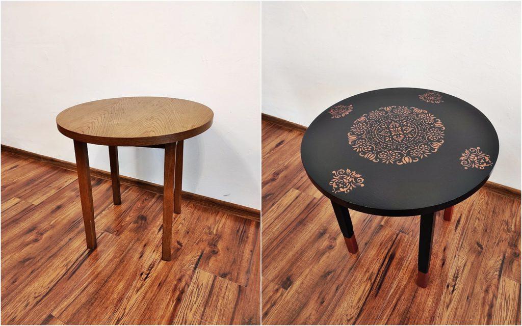 metamorfoza stolika 1024x640 - ODNAWIANIE MEBLI - RELACJA Z WARSZTATÓW