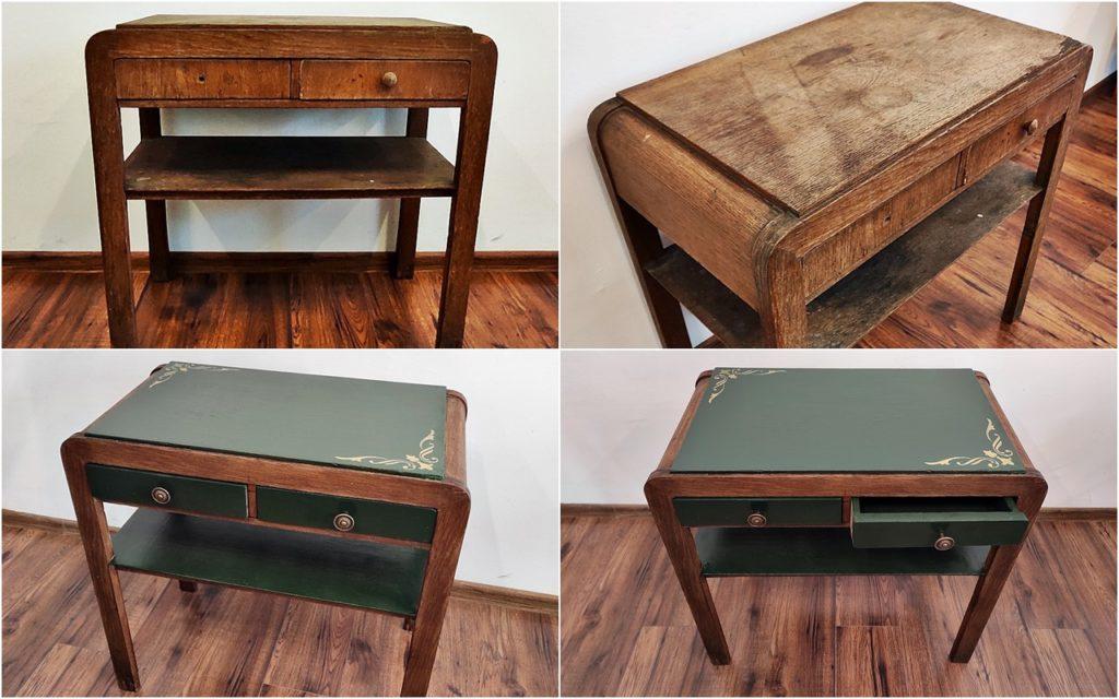 renowacja stolika pod radio 1 1024x640 - ODNAWIANIE MEBLI - RELACJA Z WARSZTATÓW